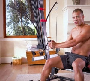a man working out on his bowflex