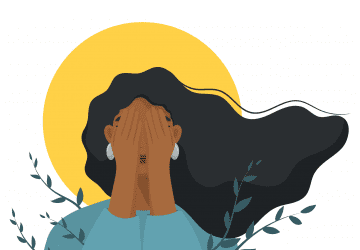 illustration of woman with depression