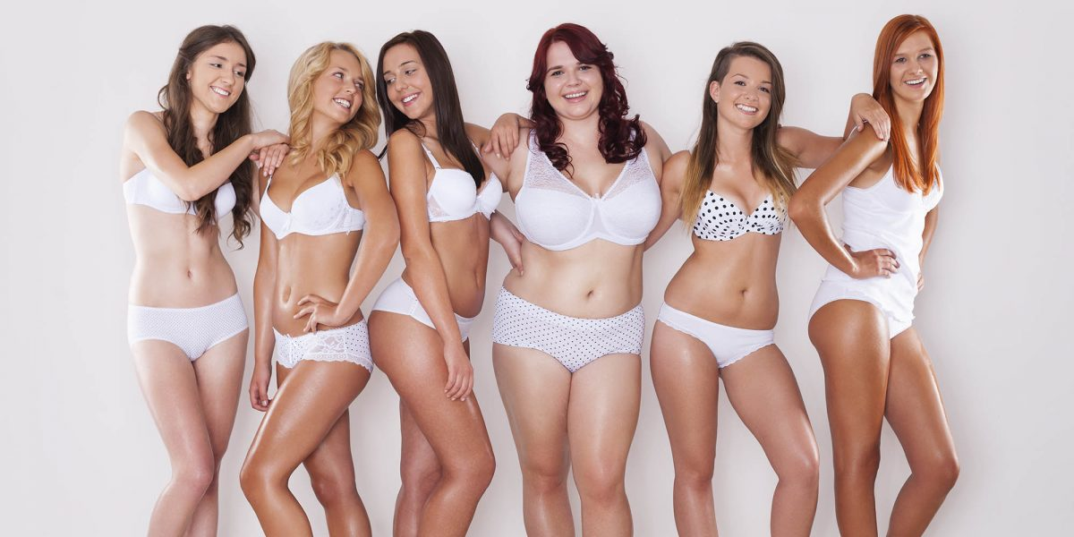 a group of different sized women