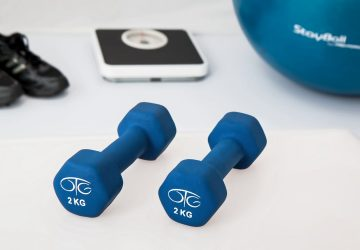 a number of fitness items